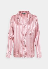 Missguided - STRIPED SHIRT AND SHORTS - Pyjamas - pink - 1