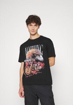 OVERSIZED EAGLE  - T-shirt print - black