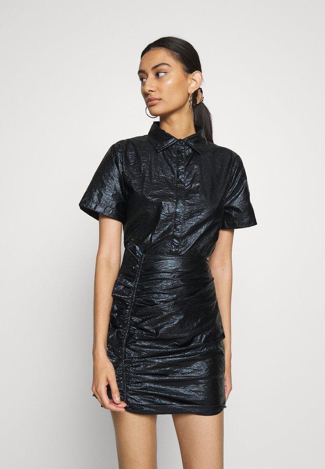 DRIFTER SHORT - Overhemdblouse - black gloss