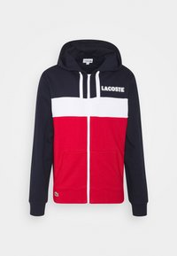 Lacoste - Mikina na zip - navy blue/red/white - 3