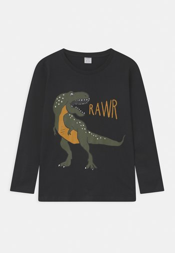DINO PLACEMENT - Long sleeved top - off black