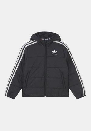 PADDED UNISEX - Winter jacket - black/white