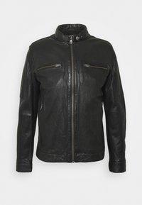 Lindbergh - LEATHER JACKET - Leather jacket - black - 4