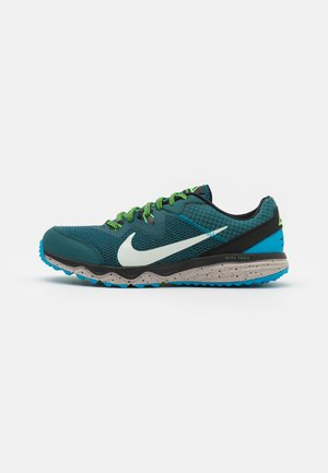 JUNIPER - Trail running shoes - dark teal green/light silver/black