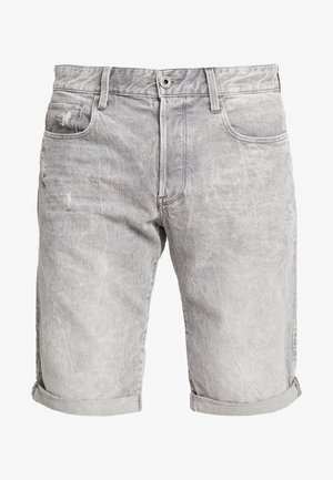STRAIGHT TAPERED FIT - Denim shorts - sato grey denim/ dusty grey