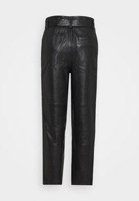 Gestuz - STORIA PANTS - Leather trousers - black - 7