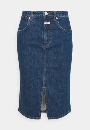 EMMETT - Denim skirt - dark blue