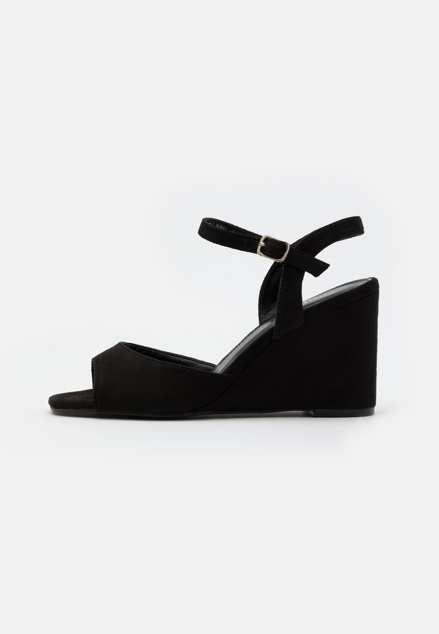 PEACH WIDE - High heeled sandals - black