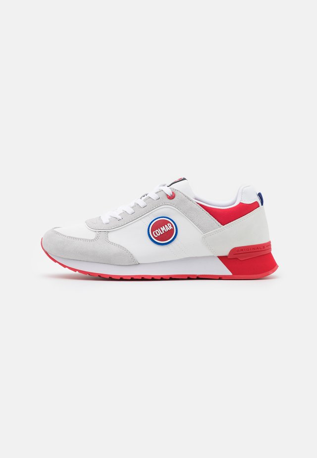 TRAVIS BOOST - Baskets basses - white/red