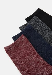 Vero Moda - VMGLAM SOCKS 4 PACK - Socks - black/nightsky/cabernet/black - 1
