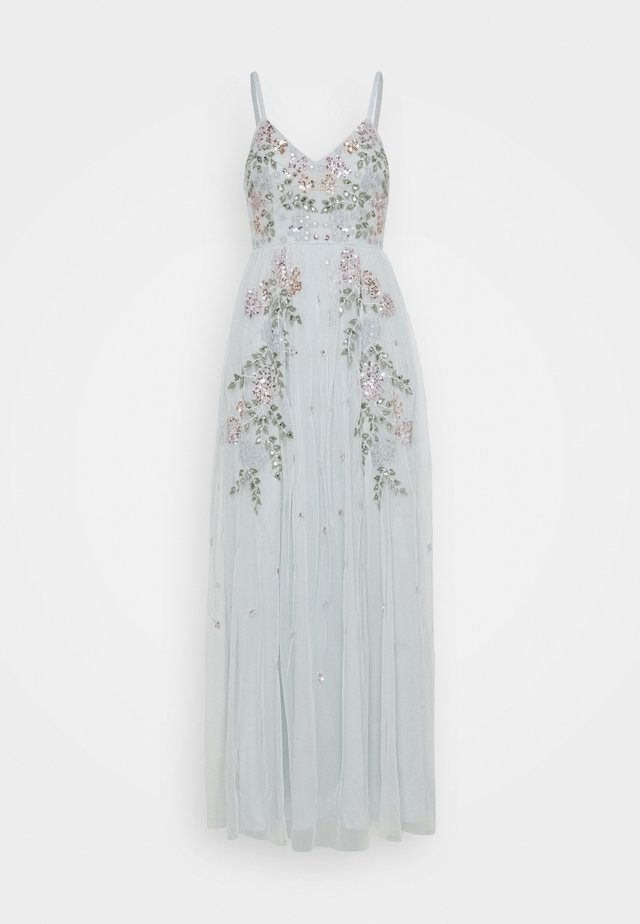 EMBROIDERED CAMI DRESS - Robe de cocktail - ice blue
