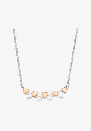 Necklace - silver/orange