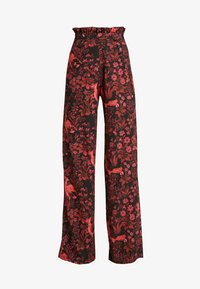 Hope & Ivy Tall - TROUSERS RED PRINT - Bukse - black/red - 3