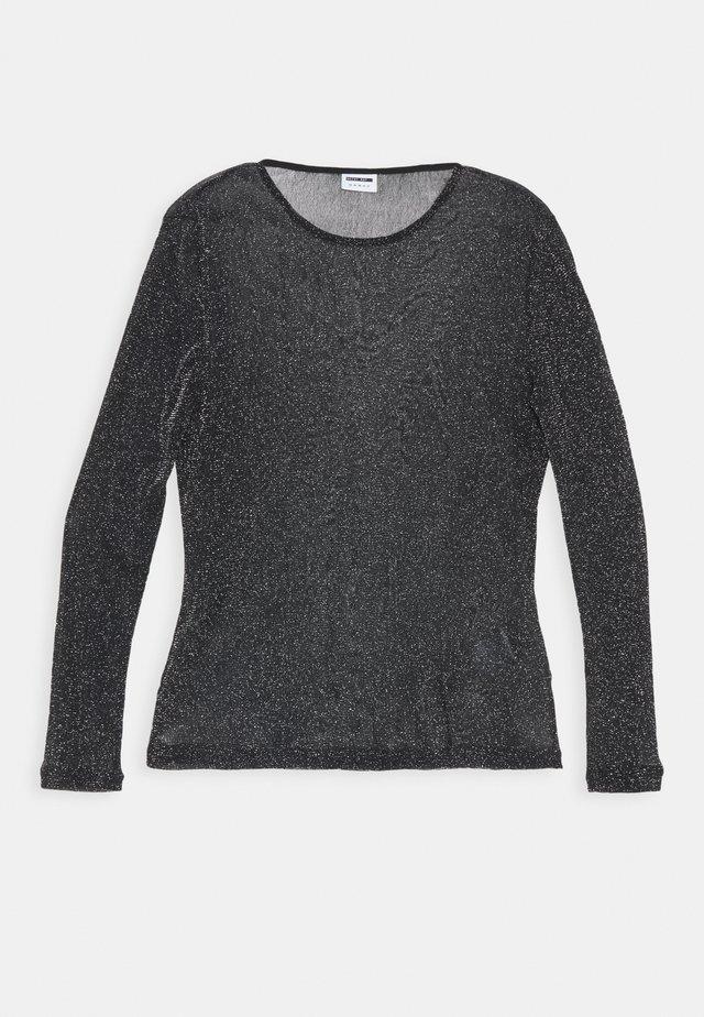 NMGLAM - Långärmad tröja - black/silver