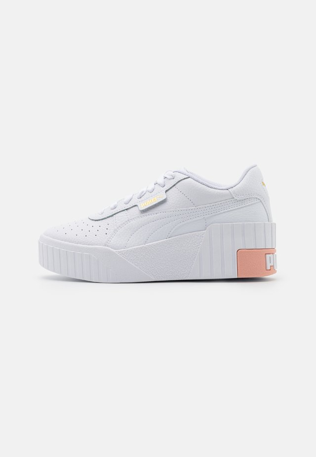 CALI WEDGE  - Sneakers basse - white/apricot blush