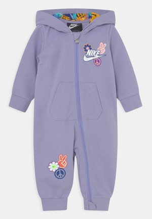FLOWER CHILD HOODED COVERALL UNISEX - Jumpsuit - purple dawn