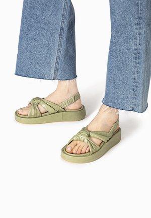 Platform sandals - olive olv