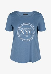 Zizzi - Print T-shirt - blue - 3