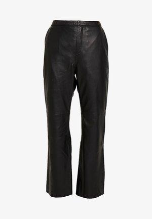 MARVELLA - Leather trousers - black