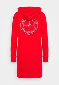 GANT - NAUTICAL HOODIE DRESS - Day dress - lava red - 1