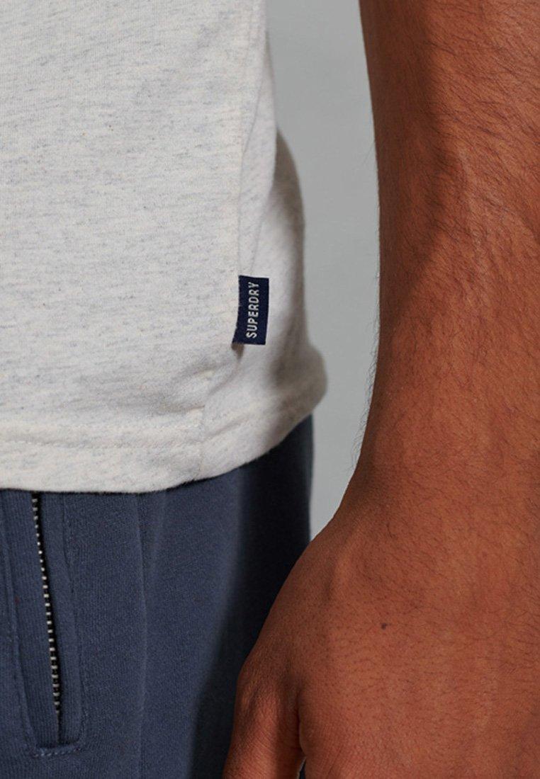 Superdry PORT AND STARBOARD - T-Shirt print - pale grey marl/hellgrau xdPCQ2