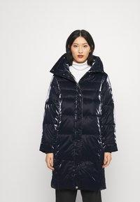 Guess - REGINA LONG JACKET - Winter coat - blue navy - 0