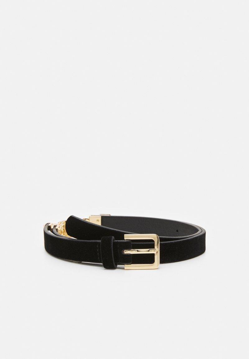 Pieces - PCKARMEN WAIST BELT - Waist belt - black/gold-coloured