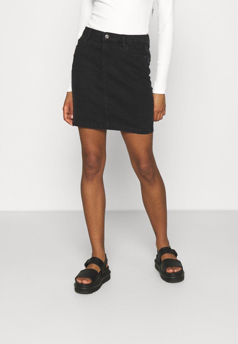 ONLY - ONLAMAZE SKIRT BOX - Mini skirt - black denim