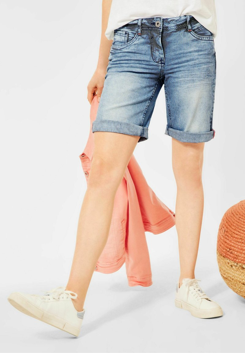 Cecil - Jeansshorts - mid blue wash