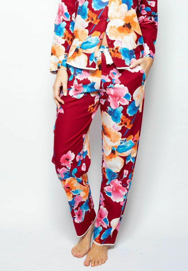 Nattøj bukser - red print