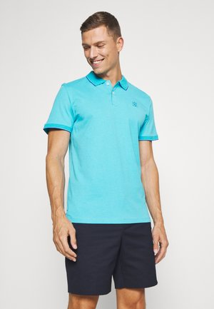 WITH TIPPING - Polo - clear blue/white melange