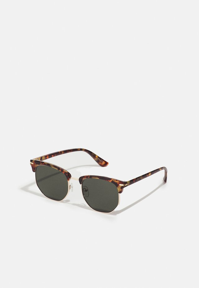 MASAO - Sunglasses - brown tort/gold-coloured/green