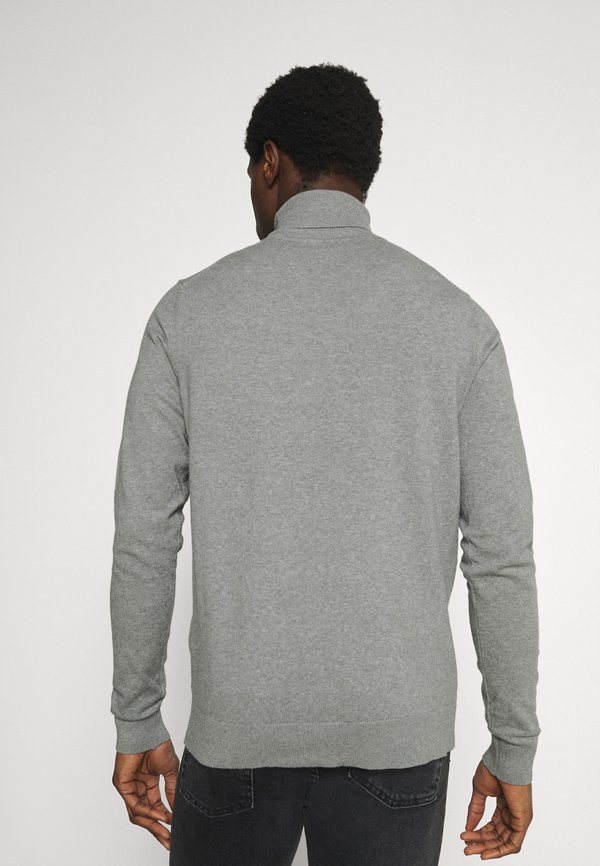 Pier One 2 PACK - Sweter - black/mottled light grey/czarny Odzież Męska ZYNQ