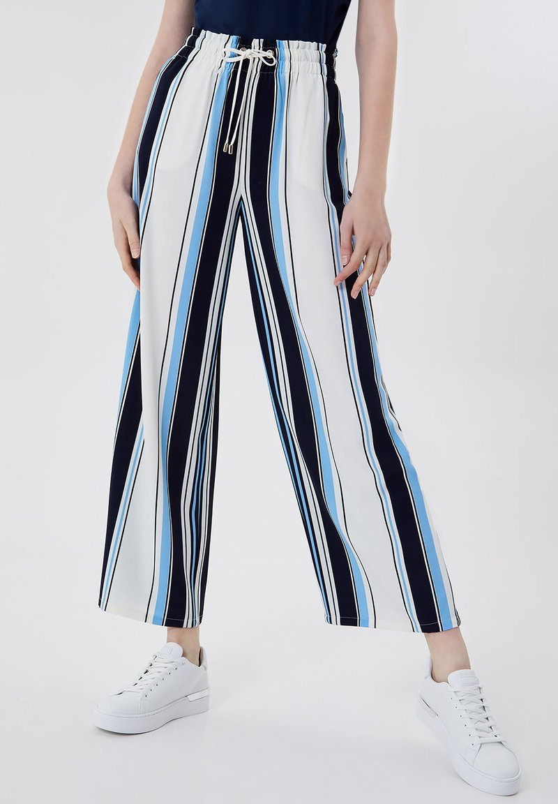 LIU JO - Trousers - stripes/blue