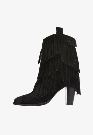 ILFORD FRINGES - High heeled ankle boots - black