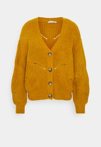 Pieces - PCBENITA CARDIGAN - Cardigan - nugget gold - 0