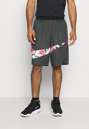 FLORAL - Sports shorts - smoke grey/black