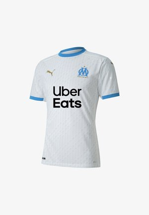 OLYMPIQUE DE MARSEILLE HOME AUTHENTICMAND - T-shirt con stampa - white-bleu azur
