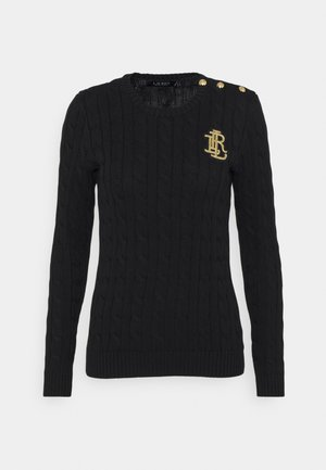 GASSED - Strikkegenser - polo black
