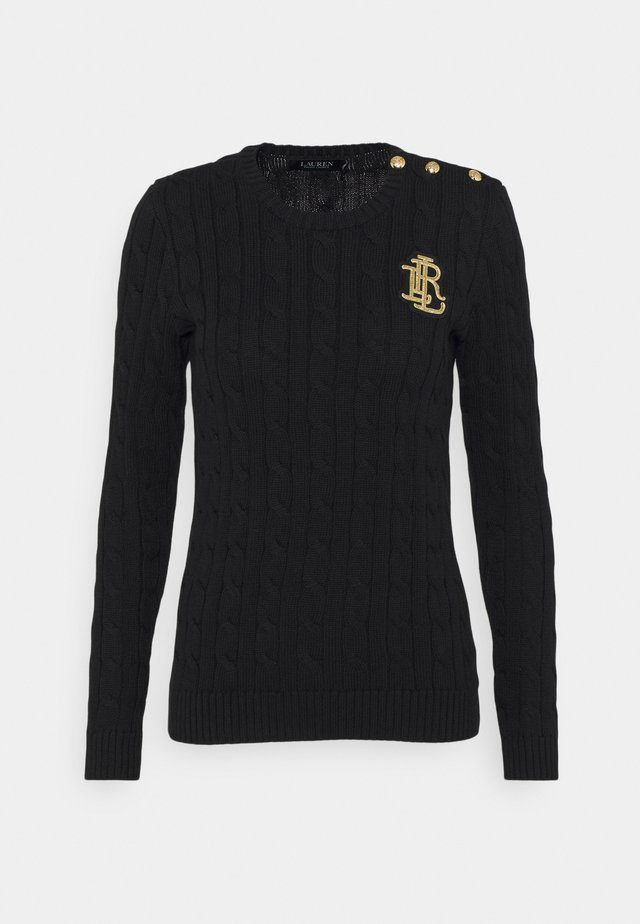 GASSED - Sweter - polo black