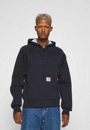 CAR LUX HOODED JACKET - Sweater met rits - dark navy/grey
