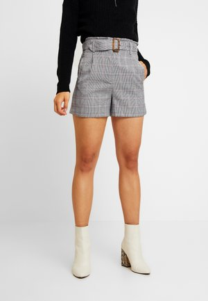 WITH FRILL WAIST - Shorts - black