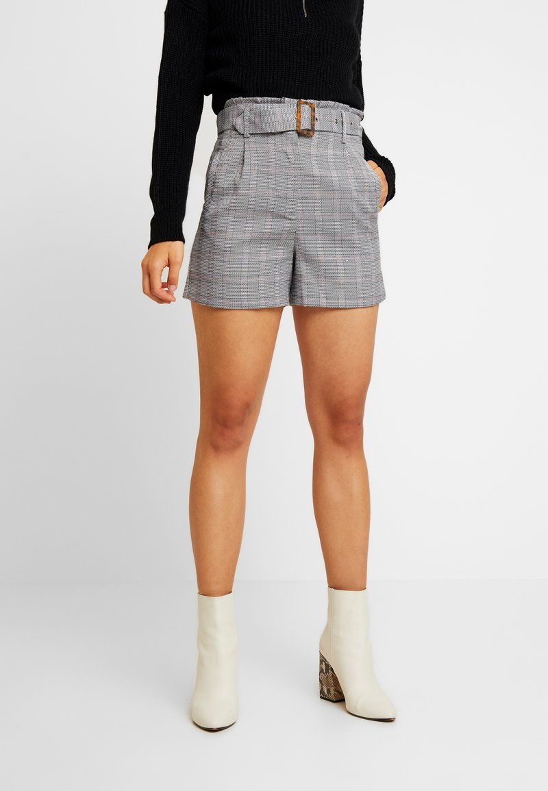 Lost Ink - WITH FRILL WAIST - Shorts - black