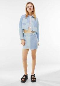 Bershka - Denim jacket - blue denim - 1