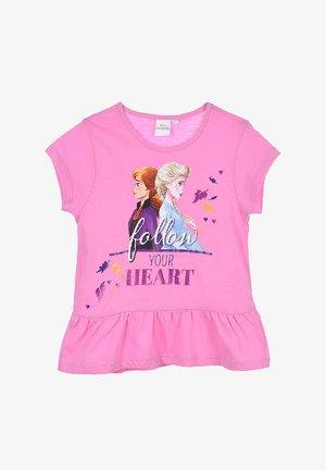 EISKÖNIGIN ANNA & ELSA - Print T-shirt - pink