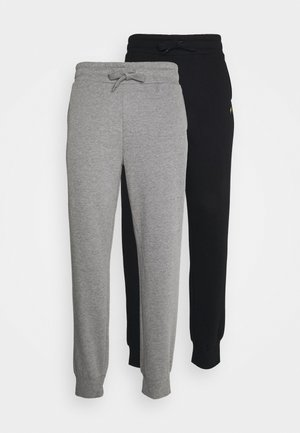2 PACK - Pantaloni sportivi - black/mottled grey