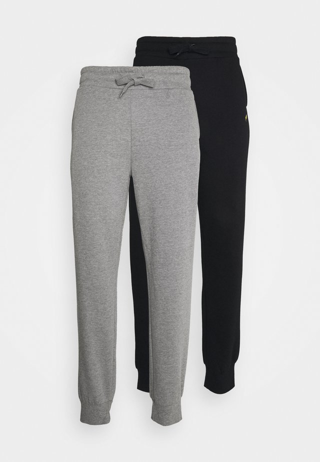 2 PACK - Trainingsbroek - black/mottled grey