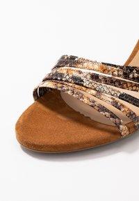 PERLATO - High heeled sandals - camel - 2
