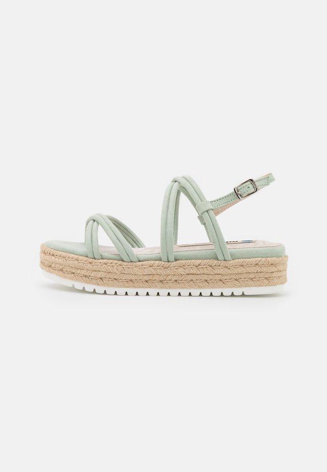 AMELIE - Sandalen met plateauzool - menta