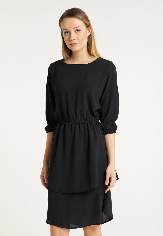 DREIMASTER SOMMERKLEID - Korte jurk - schwarz